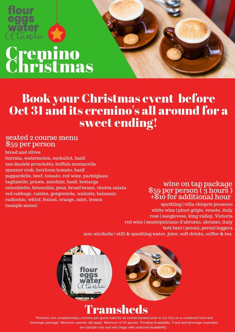 Cremino Christmas At Tramsheds